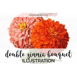 Double Zinnia Bouquet