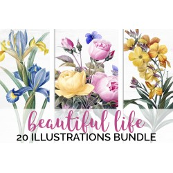 Watercolor Flowers Volume 02 (qty 20)