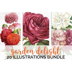 Watercolor Flowers Volume 03 (qty 20)