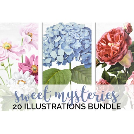 Watercolor Flowers Volume 04 (qty 20)