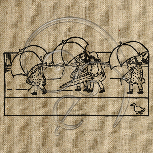Girls holding umbrellas (free download)
