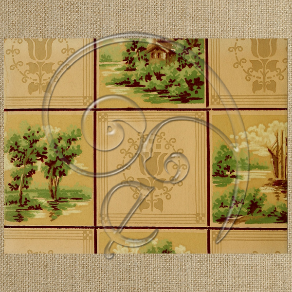 vintage tree squares (free download)
