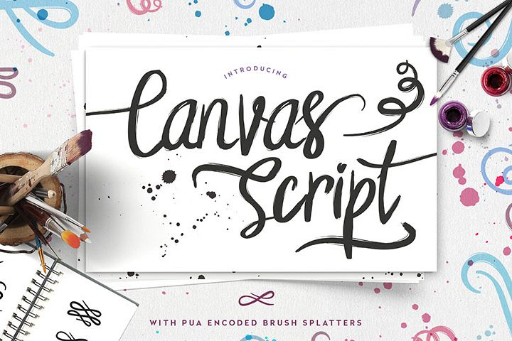 Free Commercial Use Font Canvas Script