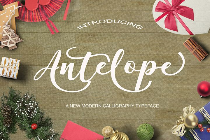 Free Script Font Antelope