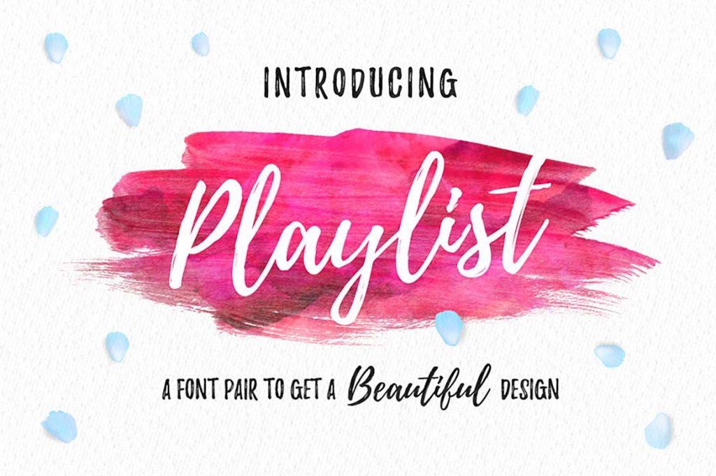 Playlist Script Free Font