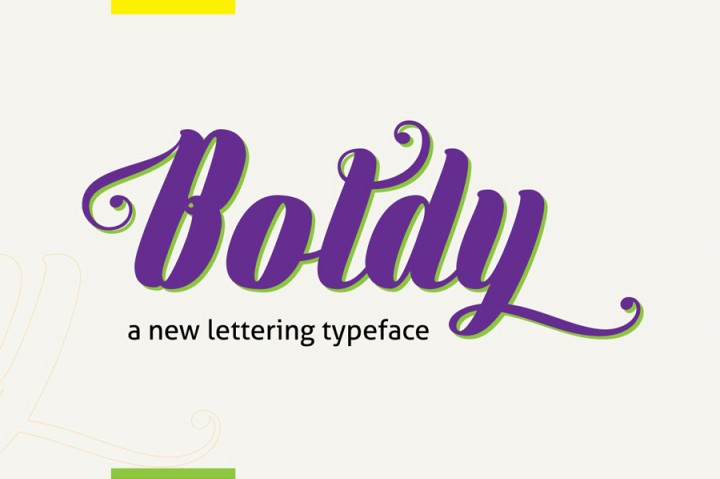 Free commercial use font Boldy
