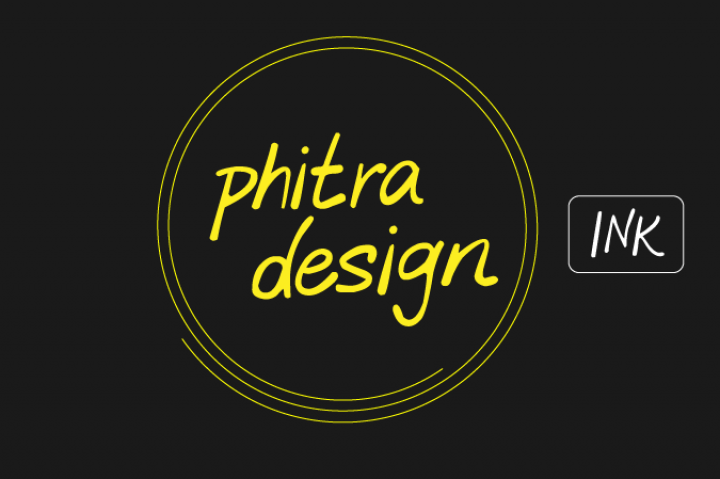 Free commercial use sans font Phitra Design Ink