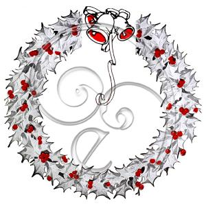 Christmas Frame Holly Jingle Bells (free download)