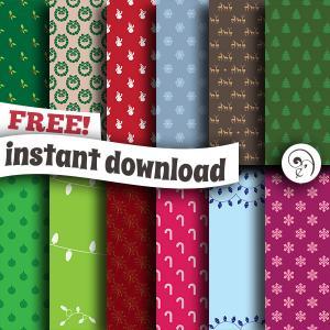 Freebie Christmas Pattern Paper Pack