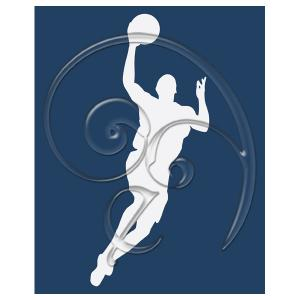 Free Wall Print Basketball Silhouette White Navy Blue-03 (free download)