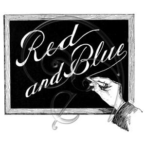 Red and Blue Chalkboard (free download)