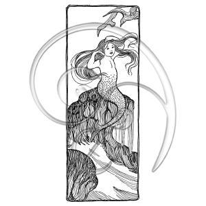 mermaid combs hair (free download)