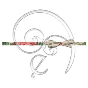 vintage rose bow (free download)
